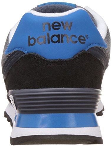 New Balance 574, Chaussures de Running Entrainement Homme Multicolore (Black/Blue 945)