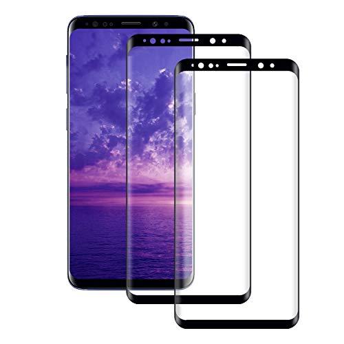 Seomusen Panzerglas Schutzfolie kompatibel mit Samsung Galaxy S9 Full Cover [2 Stück], [9H Härte][ Anti-Kratzen] [Anti-Fingerabdruck] [Anti-Öl][HD Ultra Klar], Displayschutzfolie für Galaxy S9
