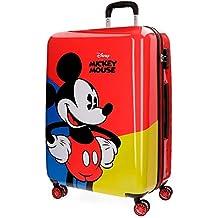 Color Rojo y Gris 56 cm, 35 L Juego de Maletas Jacob Company Disney Cabinsize Mickey Hands