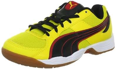 Puma Vellum III 102614, Unisex - Erwachsene Sportschuhe - Indoor, Gelb (vibrant yellow-black-puma 03), EU 36 (UK 3.5) (US 4.5)