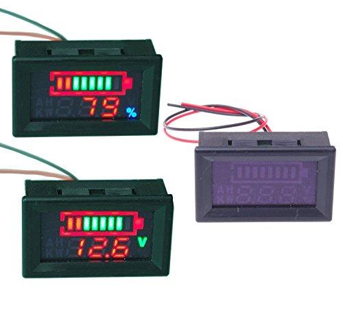 Aihasd Universal 24V Säureblei batterien Indikator Batteriekapazität Digital LED Tester Voltmeter