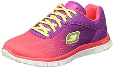 Skechers Flex AppealStyle Icon, Damen Sneakers, Pink (HPPR), 35 EU