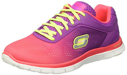 skechers-flex-appeal-style-icon-womens-trainers-hot-pink-purple-6-uk