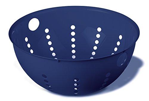 Koziol seihe Palsby L, Plastique, Solid Deep Velvet Bleu, 28 x 28 x 13 cm