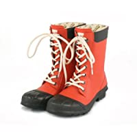 Rockfish Short & Lacey Wellington Boots in Poppy/Choc