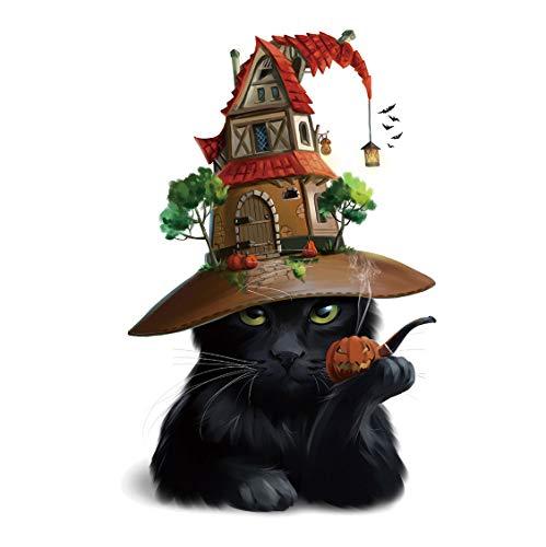 Halloween PVC Wandaufkleber, Kürbis Black Cat Dekoration Aufkleber, Fun Party Decor für Kinder Wohnzimmer
