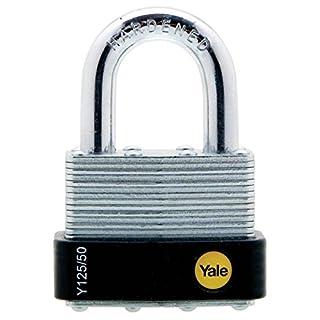 Yale Y125/50/129/1 - Yale Laminated Open Shackle Padlock 50mm