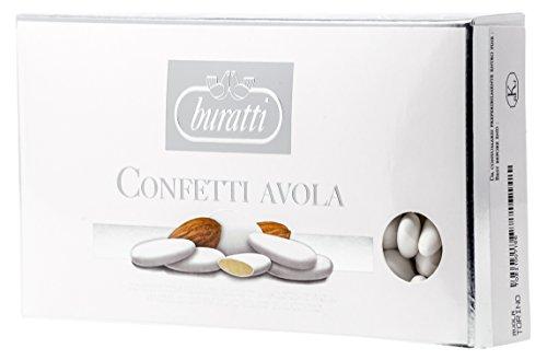 Confetti Classici Mandorla di Avola Certificata Calibro 36. Qualità Confetti Buratti Torino 36. Prodotto Senza Glutine.