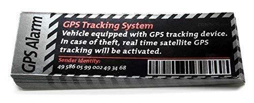 GPS Tracking System Sticker Alarm Deutsch & Englisch Aufkleber Decal - Dub (Version: Englisch)