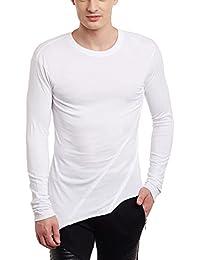 FUGAZEE Unbalanced Pleated T-Shirt