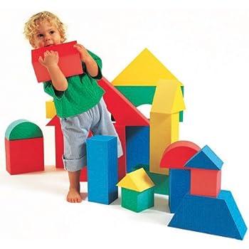 Edushape giant foam blocks construction toy 16 pcs for Foam blocks building construction