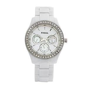 Reloj de mujer Fossil ES1967 con cronógrafo, color blanco de Fossil