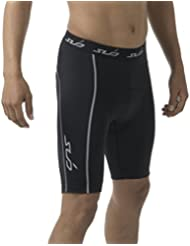 Sub Sports Mens Padded Cycling Shorts Cycle MTB Biking Triathalon, Cushioned Padding for Comfort, Compression Fit Moisture Wicking Fabric