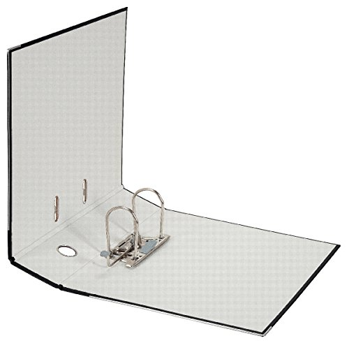 Falken PP-Color Kunststoff-Ordner 8 cm breit DIN A4 schwarz Ringordner Aktenordner Briefordner Büroordner Plastikordner Schlitzordner - 2