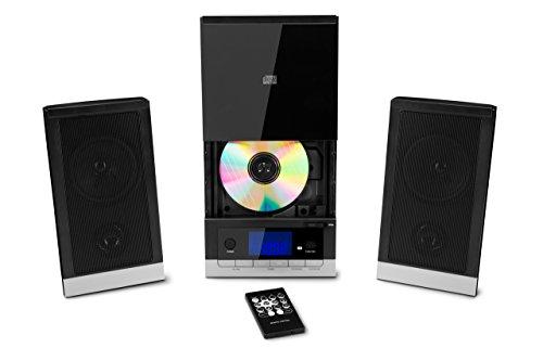 MEDION E64704 Mikro-Audio-System, 5 Soundvoreinstellungen, Einschlafautomatik bis zu 90 Min., Weckfunktion, 2 x 25 Watt max. Musikausgangsleistung, schwarz