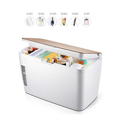 PXQ Autokühlschrank Kosmetikinkubator Tragbare große Kapazität 15L Stratification Digitale Temperaturkontrolle Mini-Gefrierschrank Stumm Elektronischer Kühler/Wärmer - Lotion Wärmer