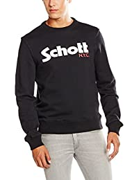 Schott NYC Swcrew, Sweat-Shirt Homme
