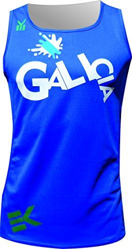 EKEKO SPORT Running Singlet, ekeko Galicia Runner Tank Laufen T Shirt Per La Corsa, Atletica Leggera e spiaggia sport, molto traspirante e leggero. Blu (Xxl)