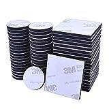 60 Stücke Doppelseitiges Schaumstoff Pads EVA-schaum Klebepads Selbstklebend Schaumstoff Pads, Schwarz, Rund & Quadratisch