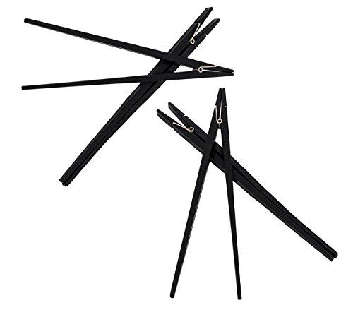 ReiTrade Essstäbchen Sushi China Stäbchen Chopsticks Klammer aus Echtholz, 4 Stück -