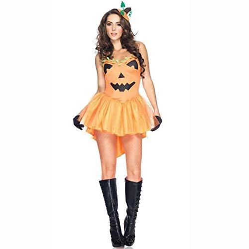 Yunfeng Hexenkostüm Damen Halloween Kostüm Tragen Kürbis Kostüm Hexe Kostüm Assistent Hexenkostüme
