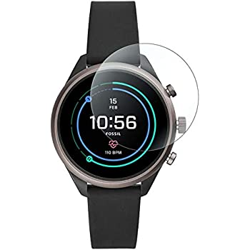 ACUTAS® Premium Tempered Glass for Fossil Sport 41mm (Transparent) Full Screen Coverage (Except Edges) with easy installation kit