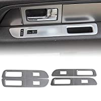 Voodonala for F150 Window Lift Panel Switch Trim Covers for Ford F150 2009-2014 (Silver)