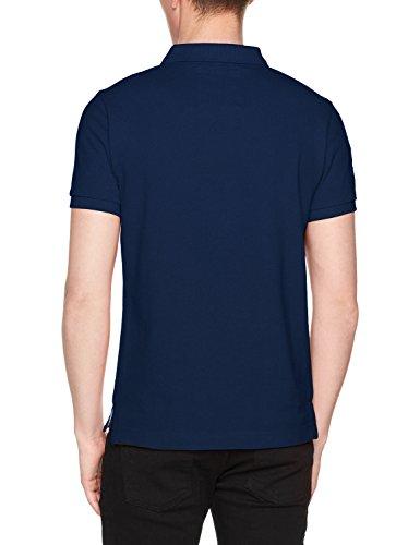 Superdry Herren Poloshirt Classic S/S Pique Polo Blu (Sonix Blue Grit)