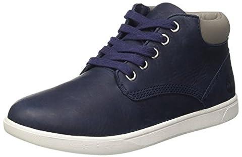 Timberland Unisex-Kinder Groveton Leather Chukkablack Chukka Boots, Blau (Black Iris Escape Full Grain), 38