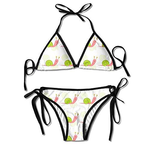 28b1ab7da247 Funny&shirt Women's Beach Wear Bikini Sets Snail Pattern Swimsuits