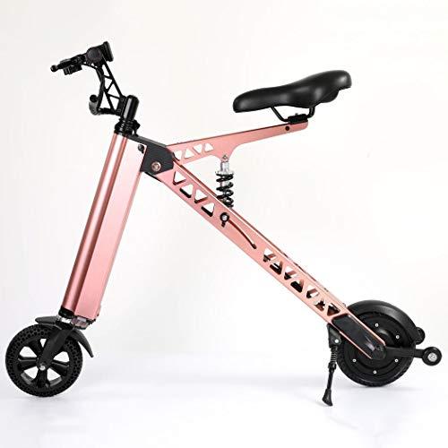 Wu's faltbares E-Bike, Lithium-Ionen-Akku, LCD-Display, 20 km/h, Reichweite 25~35 kg, Einteilige Rad, Stoßdämpfer Rose 810 Rosen