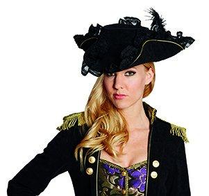 Edelpirat schwarz Accessoires Seeräuber Hut Pirat Karneval Halloween
