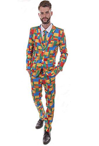 Hirsch Kunststoff Brick Designer Suit Gr. Medium, Mehrfarbig - (Kostüm Die Designer Unglaublichen)