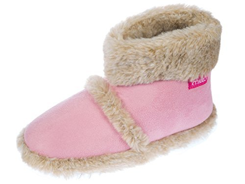 New-Ladies-Cooler-Fun-microfibra-Pantuflas-mullido-clido-tobillo-botas-de-Snugg-316