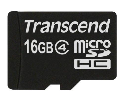 Transcend Memory Card Micro SDHC 16GB Class 4
