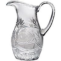 Majestic regalos 54-ounce corte cristal jarra con asa, tamaño grande, diseño de