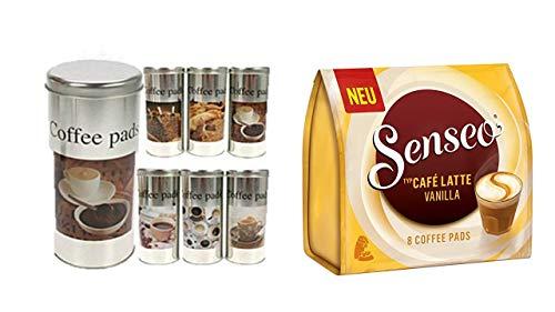 James Premium Senseo Kaffeepads Café Latte Vanilla, Vanille Milchkaffee, Milch Kaffee Pad, 8 Pads+...