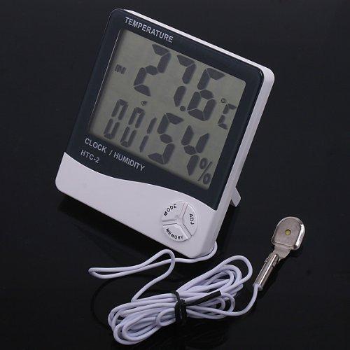 Termometro Orologio igrometro 3 in 1 MODELLO COMPLETO Termometro digitale igrometro per la TEMPERATURA e le CONDIZIONI meteo CON DOPPIA LETTURA: INTERNA ED ESTERNA + Digitale di umidita di TEMPERATURA