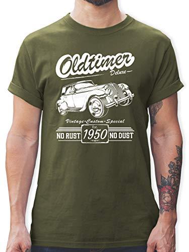 Geburtstag - 70. Geburtstag Oldtimer Baujahr 1950 - L - Army Grün - L190 - Tshirt Herren und Männer T-Shirts