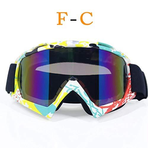 fish Occhiali daMoto Casco Moto ATV DH MTB Dirt Bike Occhiali Oculos Antiparras Gafas Occhiali da Motocross, c2