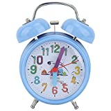 AUNMAS Sveglia per Bambini Notturno Luminoso da Comodino elettronico a Voce Multipla Doppio Suono a Campana per Le camere da Letto Decorazione Heavy Sleepers Regali(2#)