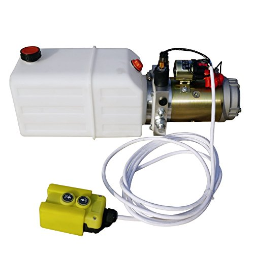 Preisvergleich Produktbild ECO-WORTHY 6 Quart 12V Anhänger Kipper Pumpe Hydraulikaggregat Hydraulic Power Dump Trailer
