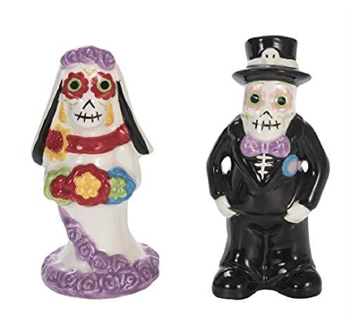 Bride and Groom Gruselige Salz- und Pfefferstreuer Dolomite Day of The Dead (Halloween Tote Oma)