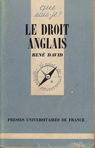 Droit Anglais (le) par Blanc-Jouvan, R. David