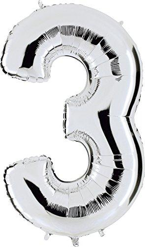 Grabo 093S-P Número 3 Superloon paquete único, longitud 40 pulgadas, color, plata, talla única