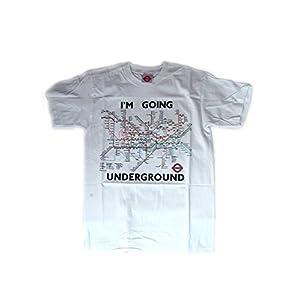 Metro de Londres Transporte de Londres – Tubo camiseta del mapa (blanco)