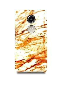 Moto X2 Cover,Moto X2 Case,Moto X2 Back Cover,White & Orange Marble Moto X2 Mobile Cover By The Shopmetro-13276