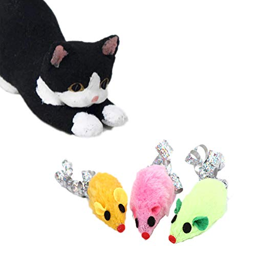 osmanthusFrag Cat Kitten Paper Plush Maus Chewing Catch Playing Interactive Toy-Random Color -