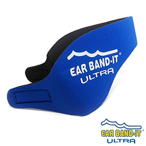Ear Band-It Ultra Schwimm-Kopfband/Ohrschutz, Neopren –Größe M, Alter 4- 9 Jahre, true blue, With Blue Putty Buddies