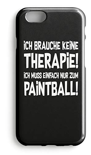 shirt-o-magic Handyhülle Paintball Softair: Therapie? Lieber Paintball! - Case -iPhone 8 Plus-Schwarz